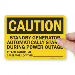 "SmartSign ENAP ""Caution -..."