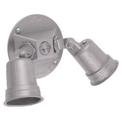 2 Lamp Flood Light, Gray